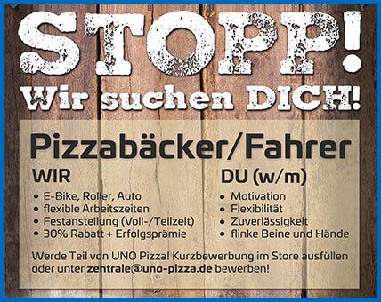 UNO Pizza - Jobs als Pizzabäcker und Pizzafahrer